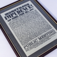 Monsterous Imprudence Notice Framed